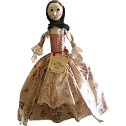 Peter Wolf Artist Queen Anne Wood Doll with Glass Eyes