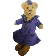 """Vintage 1920's Dressed Mohair Teddy Bear 12 1/2"""" From the Blackler Collection"""