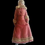 Antique 1900's Bisque Dollhouse Doll Woman