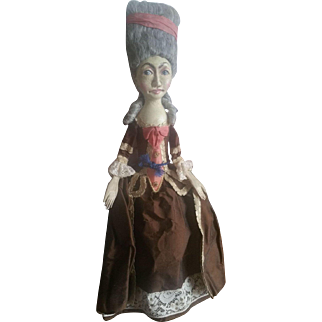 Wonderful Peter Wolf Artist Carved Wood Wooden Doll