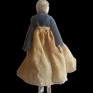 Antique Early 1900's Wood Grodnertal Peg Doll