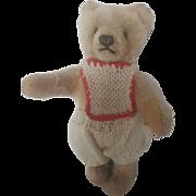 """Vintage 1960's Dressed Steiff Mohair Teddy Bear 6 1/2"""""""
