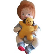 Vintage Dianne Dengel Sitting Boy Doll with Puppy