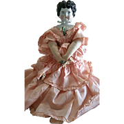 Very Nicely Dressed Vintage China Head Doll