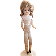 Antique Early 1900's Wax Over Paper Mache Doll