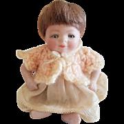 "Vintage All Bisque Grace Putnam 4"" Bye-lo Baby Doll Sleep Eyes"