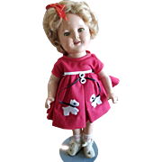 """1934 Ideal 16"""" Shirley Temple Doll Nicely Dressed"""