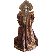 "One of A Kind Vlasta Pat Thompson 37"" Wooden Madona Doll"