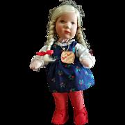 """Vintage Kathe Kruse 10"""" Doll with Tag"""