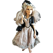 "Wonderful Vlasta Pat Thompson Doll Artist 13"" Peasant Girl"