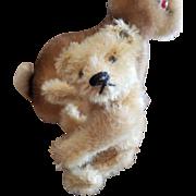 """Vintage Steiff 5 1/2"""" Mohair Teddy Bear with Blank Button"""