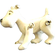 Vintage Miniature Metal Jointed Doll House Dog