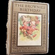 Vintage Little Wonder Books The Brownies Birthday Book