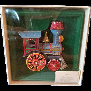 1982 First Edition Hallmark Tin Locomotive Ornament Mint in Box