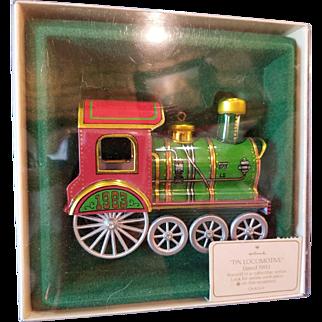 1983 Hallmark 2nd Edition Tin Locomotive Ornament Mint in Box