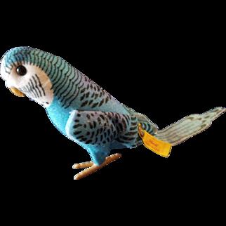 """Vintage Steiff 4 1/4"""" Blue Parakeet Bird"""