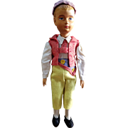 """Vintage 101/2"""" Carved Articulated Wood Wooden Swiss Doll"""