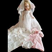 "1930's Madame Alexander 14"" Wendy Bride Doll with Wardrobe"