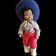 """1950's Terri Lee 16 1/2"""" Benjie Cowboy Doll"""