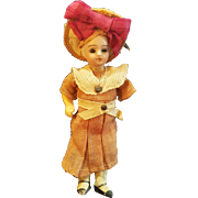Vintage Early 1900's Cute Cabinet Size Bisque Head Doll