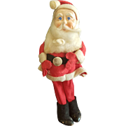 Vintage Paper Mache Face Christmas Santa Doll