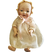 "Vintage 1917 Bisque Head 6 1/2"" Character Baby Doll"