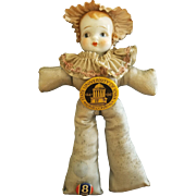Vintage 1947 University of Iowa Souvenir China Head Doll