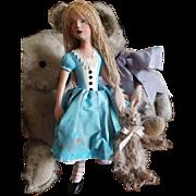 Doll Artist Nancy Wiley NIADA Alice in Wonderland Doll