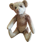 """1920 Steiff Teddy Bear Rattle 5 1/4"""" CUTE!"""
