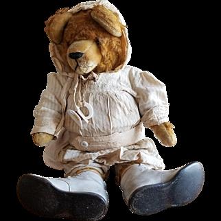 """Vintage 1920's Dressed Teddy Bear 23"""" Cute!"""