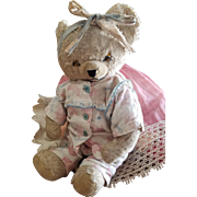 Cute Vintage Dressed Teddy Baby Bear