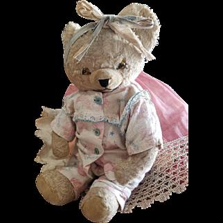 Cute Vintage Dressed Teddy Baby Bear