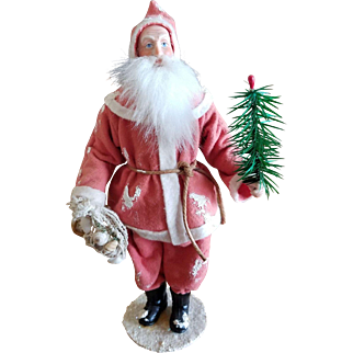 Vintage Rosemarie Snyder New England Santa Candy Container