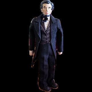 "Vintage Kimcraft 11 1/4"" Abraham Lincoln Doll"