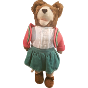 1940's Steiff Teddyli Girl Teddy Bear U.S. Zone