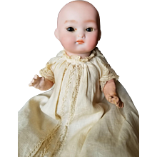 Early 1900's Unusual Expression Bisque Head Character Baby Doll