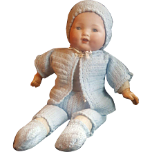 Vintage Germany Bisque Head Newborn Baby by Arranbee