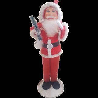"""Vintage Paper Mache 6"""" Christmas Santa Figure"""