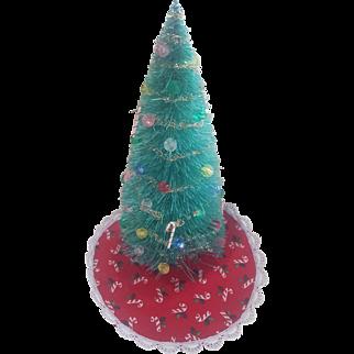 "Vintage Dollhouse Doll House 6 3/4"" Christmas Tree"