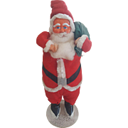 Vintage Large Paper Mache Christmas Santa Doll