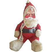 Vintage Musical Rushton Plush Santa Doll