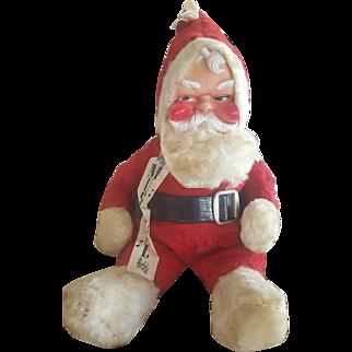 Vintage Musical Rushton Plush Santa Doll