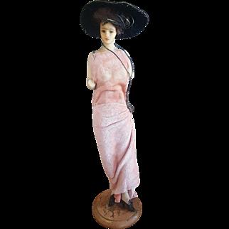 Vintage Fixer Upper Wax Lady Fashion Doll