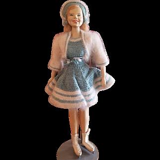 "1947 One of A Kind Doll Artist Sara Goldsmith Sonja Henie Doll 16"""