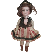 Adorable French Petite Bisque Head Doll