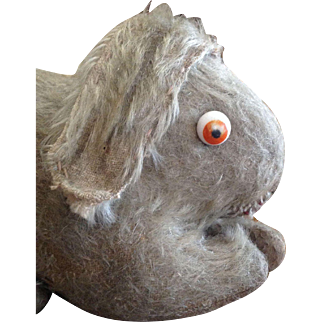 Rare 1920's Einco Mohair Rabbit Bunny with Googly Eyes
