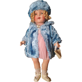 """1930's Composition 20"""" Shirley Temple Doll Exact Doll Pictured in Book!"""