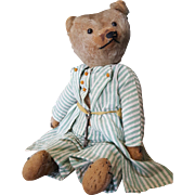 """Adorable Vintage 1920's 15 1/2"""" Mohair Teddy Bear from the Blackler Collection"""