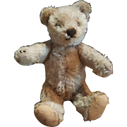 "Vintage 1950's Steiff 7"" Caramel Mohair Teddy Bear - Red Tag Sale Item"