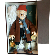 1996 R. John Wright Walt Disney Pinocchio Geppetto Searches Doll Mint in Box 18""